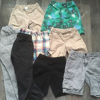 Boys 4t 5/5T lot of 2 pants 6 shorts spring summer