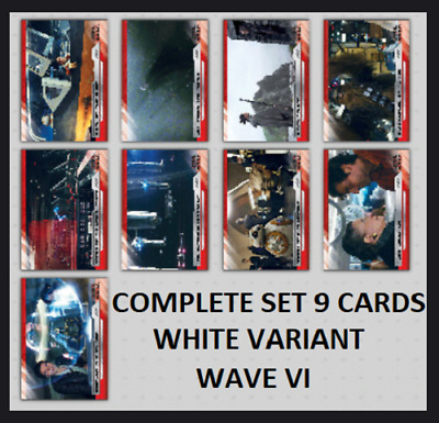Topps Star Wars Card Trader The Last Jedi Select S2 Wave 6 [Set 9 Cards] White