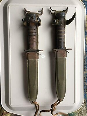 Pair of Authentic WW2 US M4 Bayonet with US M8A1 Scabbard