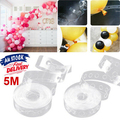 5m Cake Gift Table Arch Strip Tape DIY Balloon Decorating String Decor Chain