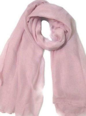 Beautiful Plain Baby Pink Big Large Oversize Maxi Scarf Soft Fabric Scarf Wrap S