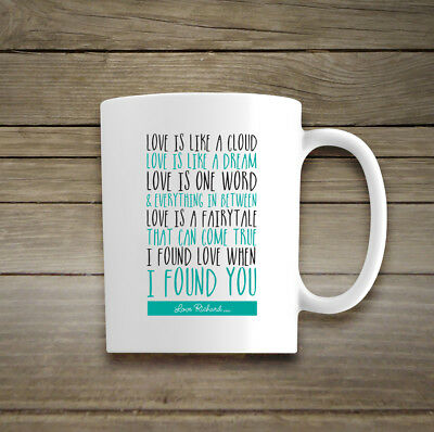 Personalised Any Occasion Mug Cup Love Poem Birthday Valentines Wedding Gift