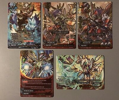 "Future Card Buddyfight Gargantua Dragon ""Legion Mode"" S-Bt01A Secret (5 Cards)"