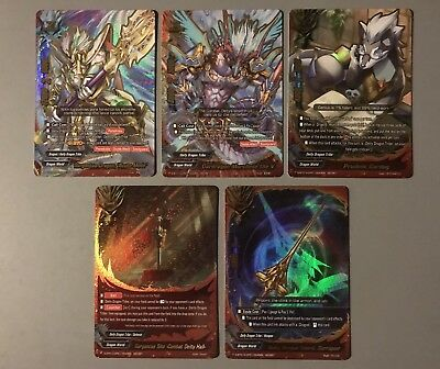 "Future Card Buddyfight Gargantua Dragon ""Acute Mode"" S-Bt01A Secret (5 Cards)"