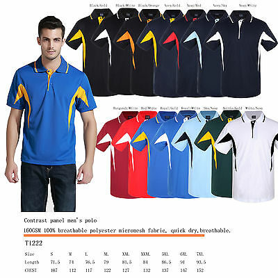 Breezeway contrast panel polo shirt S,M,L,XL,XXL,XXXL,5XL,6XL,7XL breathable