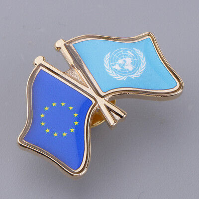 National Flag Enamel Badge Pin Country Touring Souvenir Clothes Lapel Pink