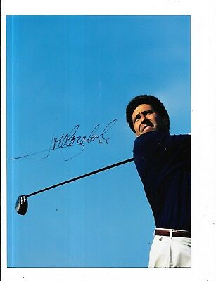 Original Autograph Of Jose Maria Olazabal Spanish Golfer Colour Photograph