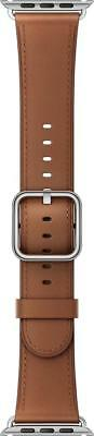 Authentic Apple Watch Saddle Brown Genuine Leather Band - 42mm Classic Buckle
