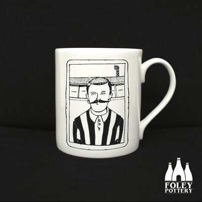 Newcastle United F.C inspired Mug, Classic Footballer Gift By Foley Pottery