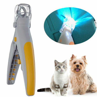 Illuminated Pet Nail Clipper Trimmer Cats Dogs Puppy Scissors Clippers LED Light