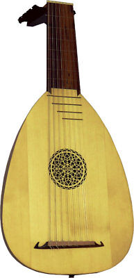Atlas 8 Course Student LUTE with case. Traditional renaissance, from Hobgoblin