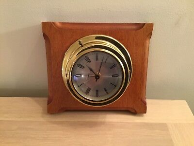 A Vintage  Wall Bulkhead Shipsmantel Clock For Spares Or Repair.