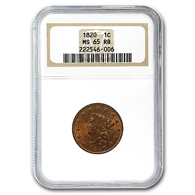 1820 Large Cent MS-65 NGC (Red/Brown) - SKU#181763