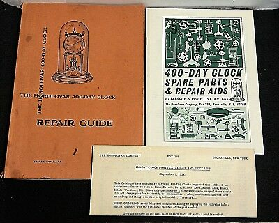 1954 The Horolovar 400 Day Anniversary Clock Repair Guide by Charles Terwilliger