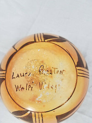 Vintage Hopi Indian Pottery Bowl By Laura Preston Walpi Village