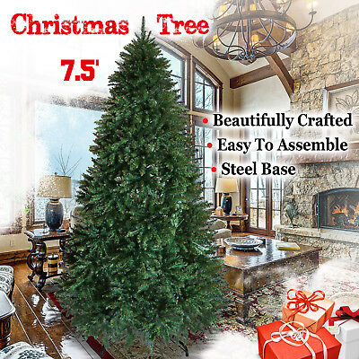 """Strong Camel Artificial Pvc Christmas Tree w/ Metal Stand 7.5ft 2514 Tips 52""""W"""