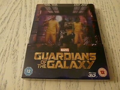 guardians of the galaxy 2D+3D (ZAVVI) bluray STEELBOOK factory sealed