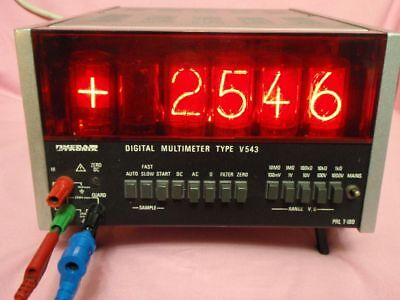 MERATRONIK V543 Digital Multimeter Riesen NIXI Röhren top V 543 Multimeter