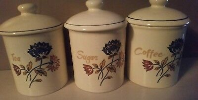 Boots camargue sugar /tea /coffee cannister set