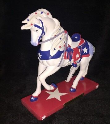 NIB 2015 Enesco The Trail of Painted Ponies Star Spangled Rodeo Horse #4046344