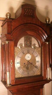 Antique   Erotic  (Automata)  Brass Dial  8 Day  Longcase / Grandfather Clock
