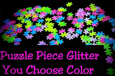 PUZZLE PIECE Shape Glitter~U Pick~Nail•Acrylic•Gel•Body Art•Face•Festival•Craft
