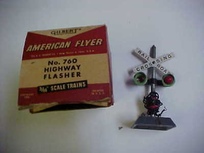 American Flyer Gilbert Highway Flasher #760 In Box Missing 1 Bulb