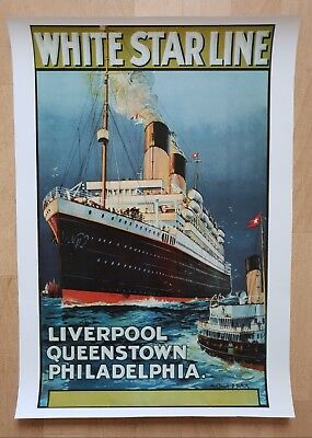 Poster White Star Line - Liverpool - Queenstown - Philadelphia