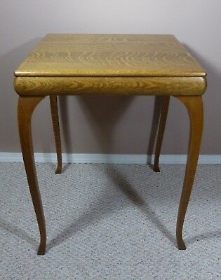 Vintage small square oak table