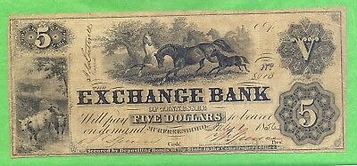 Exchange Bank Of Tennessee $5--1 July 1856