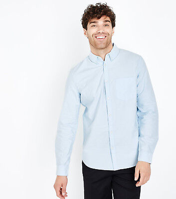 New Look Pale Blue Male Oxford Long Sleeve Shirt XXS (brand new with tags)