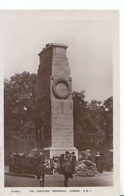 London Postcard - The Cenotaph Whitehall - Real Photograph - Ref 6446A