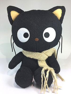 """Sanrio Chococat Plush with scarf 2003 NWT, 12"""", adult owned"""