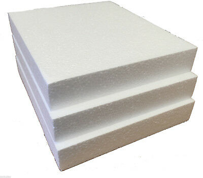 POLYSTYRENE SHEETS /PADS SD GRADE  REDUCED ON OFFER  - 240x200x35mm - PK 16