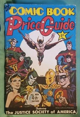 1974 Overstreet Comic Book Price Guide #4 Justice Society Of America