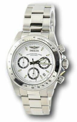 Invicta Speedway Men's White Dial Silver Stainless Steel Chronograph Watch 9211