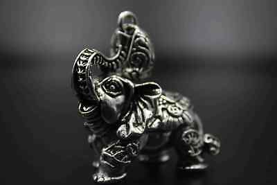 China Collectable Handwork Miao Silver Delicate Elephant Noble Rare Old Pendant