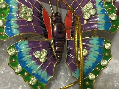 """Victorian Enameling Cloisonné Butterfly Christmas/everyday Ornament(3.5"""" X 3.0"""")"""