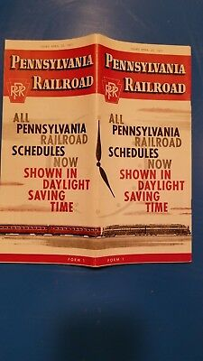 Pennsylvania Railroad Passenger timetable April 1957