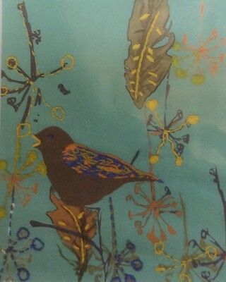 DMC Printed Embroidery Kit On The Wing Song Bird Embellish Printed Fabric