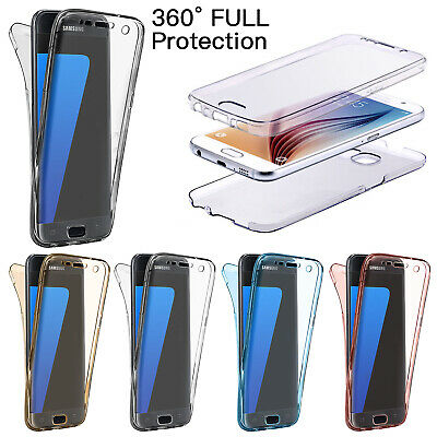 For Samsung Galaxy S7 S8 S5 Case 360° Waterproof Clear Soft Gel TPU Thin Cover