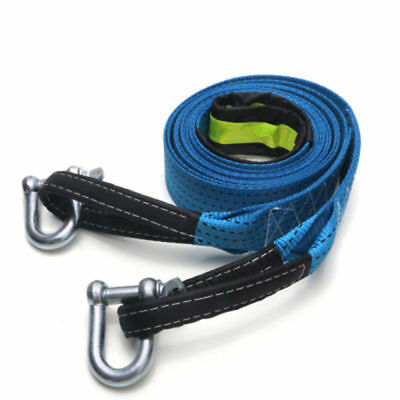 5M 8 Tons Tow Towing Pull Rope Strap Cable Emergency Heavy Duty W/ U-Shape Hook