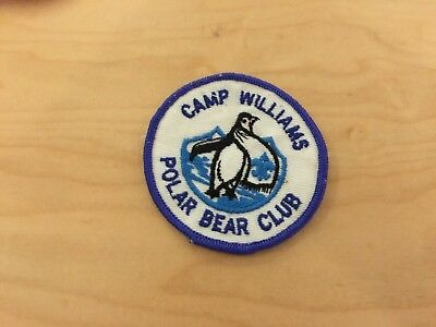 utah, camp williams, polar bear club vintage  patch, new old stock, 1970's