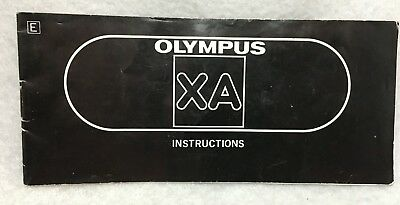 Genuine OEM Olympus XA 35mm Film Camera Instruction Manual Guide Book in English