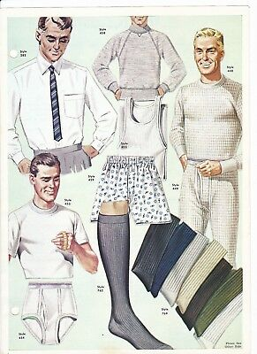 Fashion Frocks Men's Department Vintage 1970's Sample StyleCard Double Sided