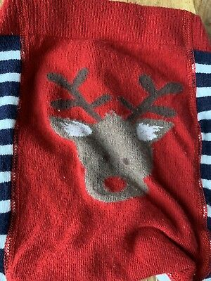 JoJo Maman Bebe Reindeer Leggings 1-2 Years