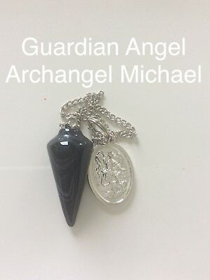 Code 266 Archangel Michael Angels Infused Onyx pendulums Great For Beginners