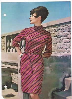 Young Look Fall 67 Knit Shift DressFashion Frocks Sample Style Fabric Sample