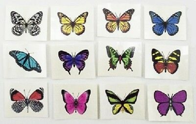 12x TEMPORARY BUTTERFLY TATTOO body art stickers girls party favour kids gift