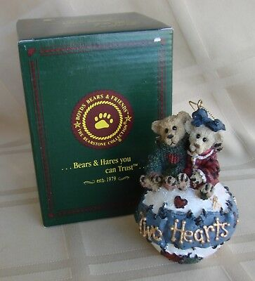 "Boyds Bear & Friends ""George And Gracie Forever"" Christmas Ornament 8E/2901  New"